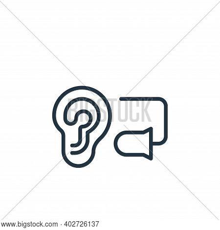 ear plug icon isolated on white background. ear plug icon thin line outline linear ear plug symbol f