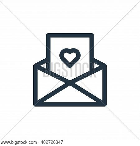 letter icon isolated on white background. letter icon thin line outline linear letter symbol for log