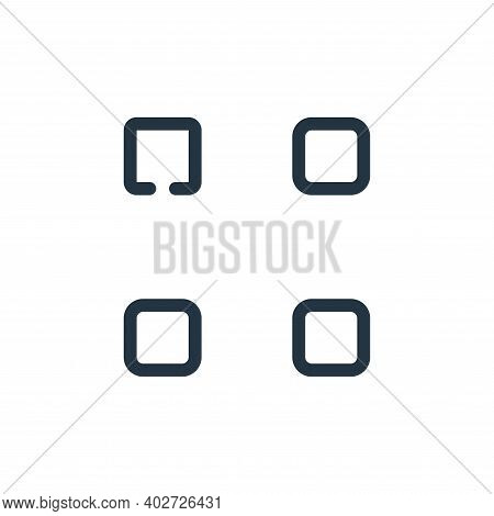 menu icon isolated on white background. menu icon thin line outline linear menu symbol for logo, web
