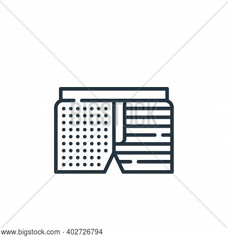 shorts icon isolated on white background. shorts icon thin line outline linear shorts symbol for log