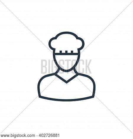 baker icon isolated on white background. baker icon thin line outline linear baker symbol for logo,