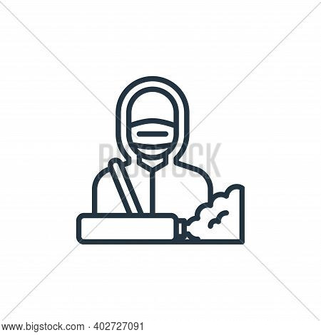 janitor icon isolated on white background. janitor icon thin line outline linear janitor symbol for