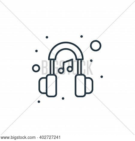 music headphone icon isolated on white background. music headphone icon thin line outline linear mus