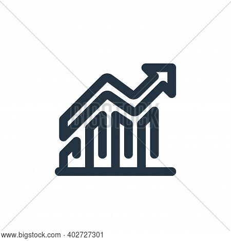 profit icon isolated on white background. profit icon thin line outline linear profit symbol for log