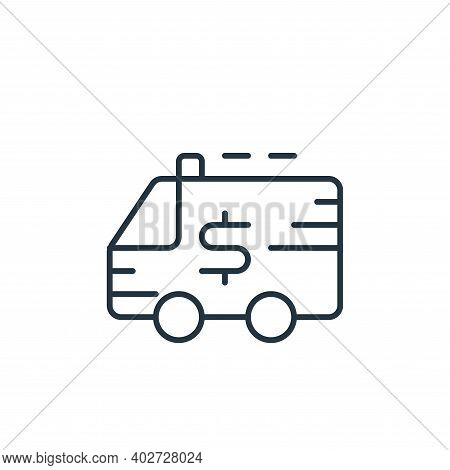 vans icon isolated on white background. vans icon thin line outline linear vans symbol for logo, web