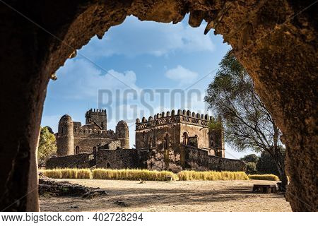 Fasil Ghebbi Royal Enclosure Is The Remains Of A Fortress-city Within Gondar, Ethiopia. It Was Found
