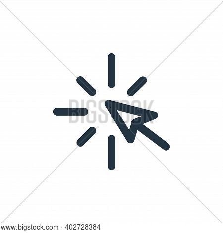 arrow icon isolated on white background. arrow icon thin line outline linear arrow symbol for logo,