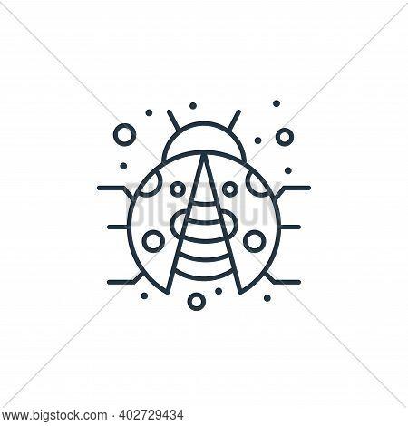 Ladybird icon isolated on white background. Ladybird icon thin line outline linear Ladybird symbol f