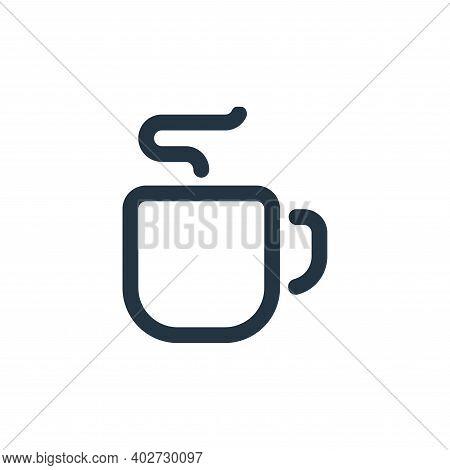mug icon isolated on white background. mug icon thin line outline linear mug symbol for logo, web, a