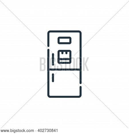 fridge icon isolated on white background. fridge icon thin line outline linear fridge symbol for log