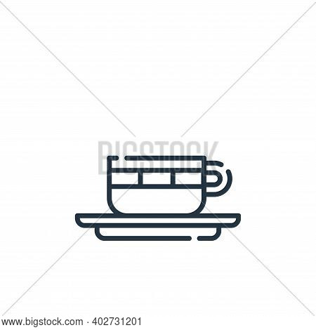 Cappuccino Vector Icon Isolated On White Background.