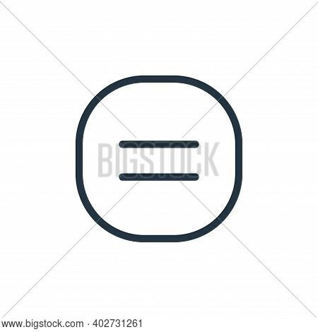 equal icon isolated on white background. equal icon thin line outline linear equal symbol for logo,