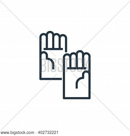 glove icon isolated on white background. glove icon thin line outline linear glove symbol for logo,