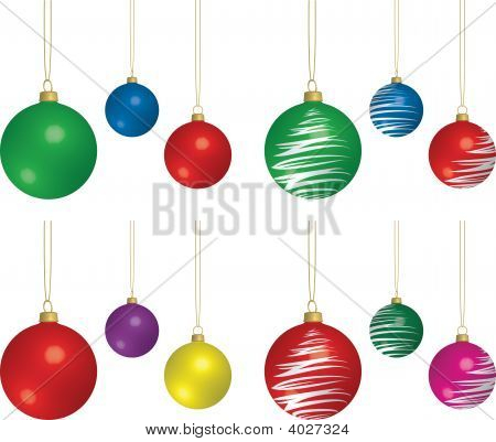 Assorted Hanging Christmas Ornaments