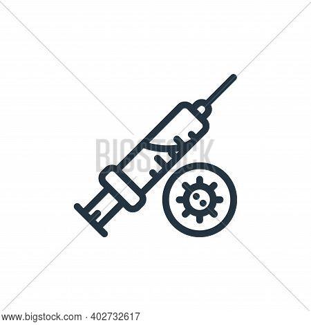syringe icon isolated on white background. syringe icon thin line outline linear syringe symbol for