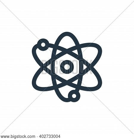 atoms icon isolated on white background. atoms icon thin line outline linear atoms symbol for logo,