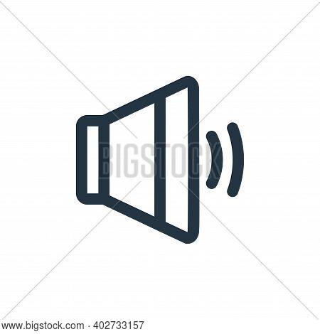 speaker icon isolated on white background. speaker icon thin line outline linear speaker symbol for