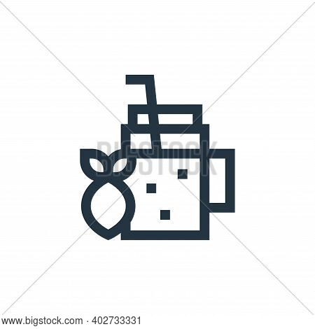 lemonade icon isolated on white background. lemonade icon thin line outline linear lemonade symbol f
