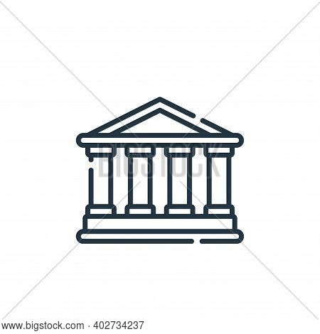 rome icon isolated on white background. rome icon thin line outline linear rome symbol for logo, web