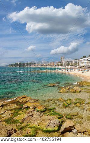 Popular Seaside Resort Of Lloret De Mar,costa Brava,catalonia,mediterranean Sea,spain,