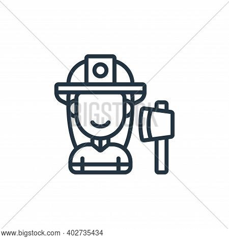 firefighter icon isolated on white background. firefighter icon thin line outline linear firefighter
