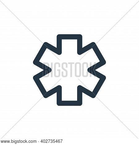 paramedic icon isolated on white background. paramedic icon thin line outline linear paramedic symbo
