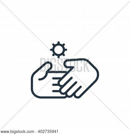 handshake icon isolated on white background. handshake icon thin line outline linear handshake symbo