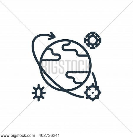 pandemic icon isolated on white background. pandemic icon thin line outline linear pandemic symbol f