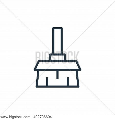 broom icon isolated on white background. broom icon thin line outline linear broom symbol for logo,