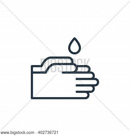 washing hand icon isolated on white background. washing hand icon thin line outline linear washing h