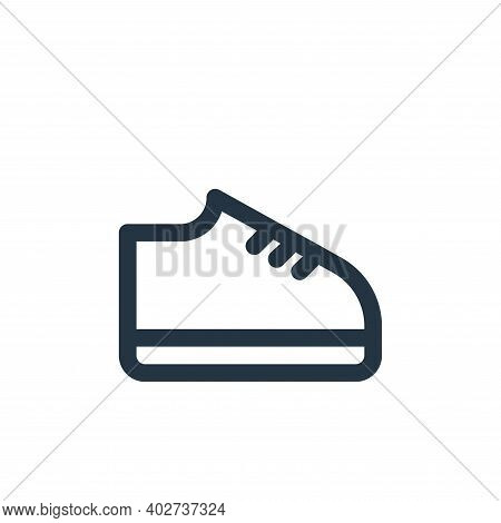 shoes icon isolated on white background. shoes icon thin line outline linear shoes symbol for logo,