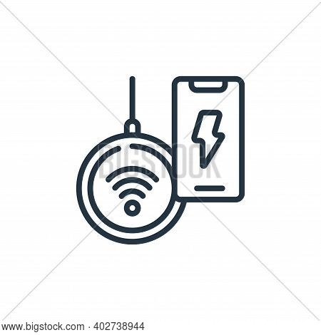 wireless charging icon isolated on white background. wireless charging icon thin line outline linear