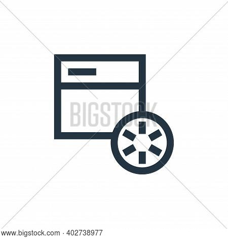 loading icon isolated on white background. loading icon thin line outline linear loading symbol for