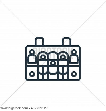 case icon isolated on white background. case icon thin line outline linear case symbol for logo, web