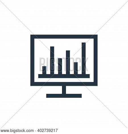 analytics icon isolated on white background. analytics icon thin line outline linear analytics symbo