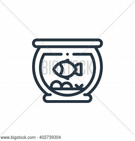 aquarium icon isolated on white background. aquarium icon thin line outline linear aquarium symbol f