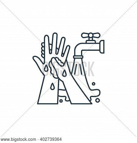 hand washing icon isolated on white background. hand washing icon thin line outline linear hand wash