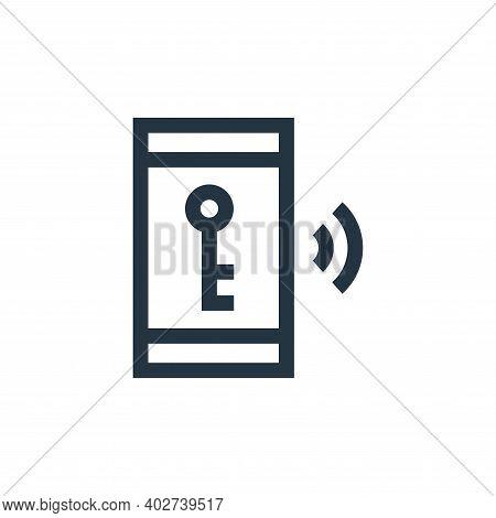 smart key icon isolated on white background. smart key icon thin line outline linear smart key symbo