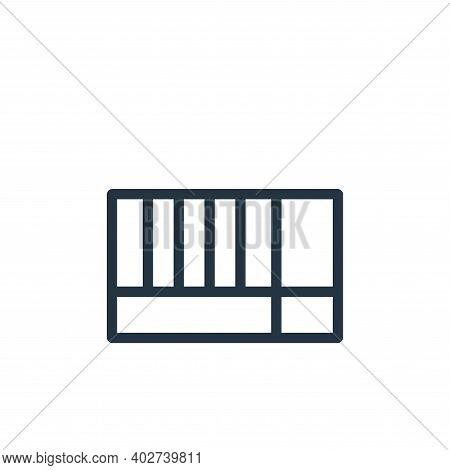 rectangular icon isolated on white background. rectangular icon thin line outline linear rectangular