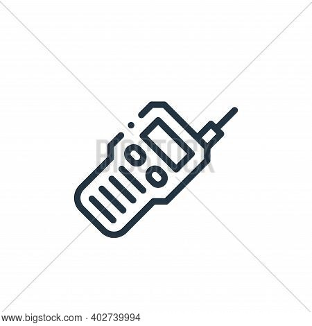 walkie talkie icon isolated on white background. walkie talkie icon thin line outline linear walkie