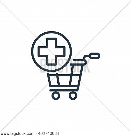 add to cart icon isolated on white background. add to cart icon thin line outline linear add to cart