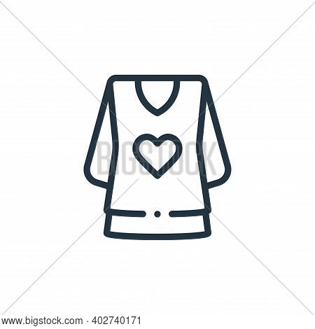blouse icon isolated on white background. blouse icon thin line outline linear blouse symbol for log