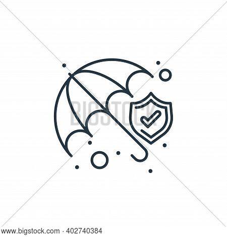 insurance icon isolated on white background. insurance icon thin line outline linear insurance symbo