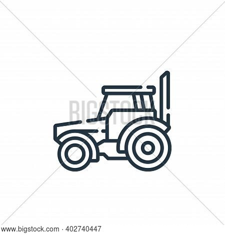 tractor icon isolated on white background. tractor icon thin line outline linear tractor symbol for
