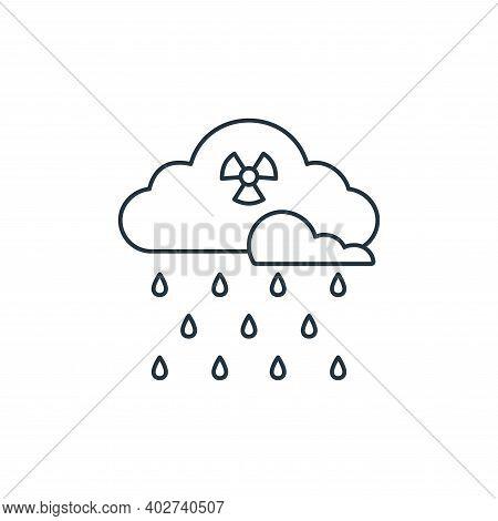 acid rain icon isolated on white background. acid rain icon thin line outline linear acid rain symbo