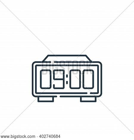 digital clock icon isolated on white background. digital clock icon thin line outline linear digital