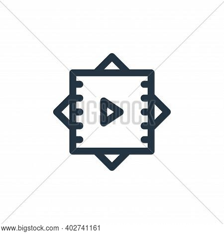 vr icon isolated on white background. vr icon thin line outline linear vr symbol for logo, web, app,