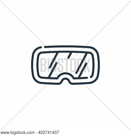 eye protection icon isolated on white background. eye protection icon thin line outline linear eye p