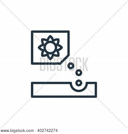 planting icon isolated on white background. planting icon thin line outline linear planting symbol f