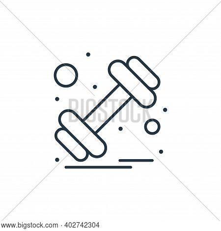 dumbbell icon isolated on white background. dumbbell icon thin line outline linear dumbbell symbol f